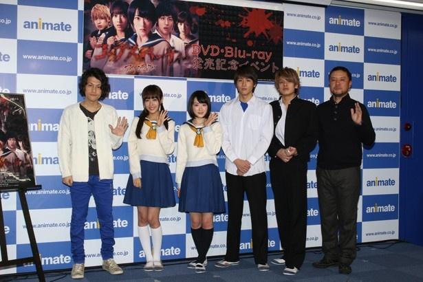 共演の池岡亮介、前田希美、JUN(BEE SHUFFLE)、原作者の祁答院慎、監督を務めた山田雅史も登場