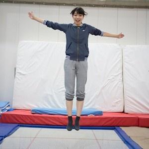 青木瑠璃子、トランポリンで2016年の飛翔を誓う!