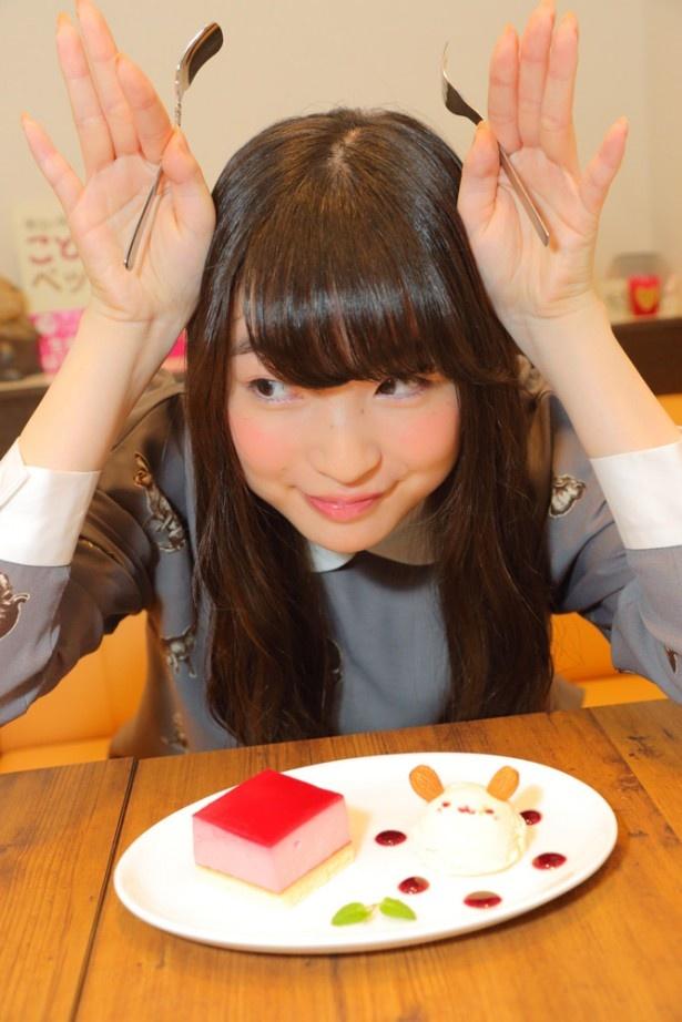 上田麗奈コラム第6回・うさぎカフェで見つけた色