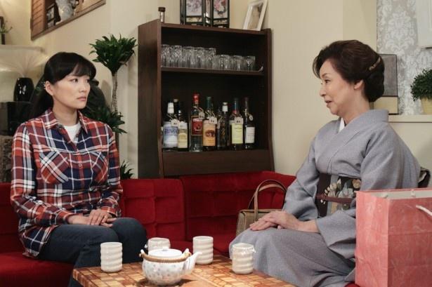 「嵐の涙~私たちに明日はある~」に野際陽子(右)がゲスト出演する