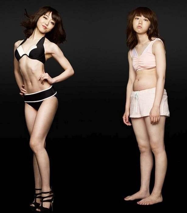 第1弾のCMでは、ぽっちゃり体型から、大人の女性の体へと劇的な変貌を遂げたことが話題となった