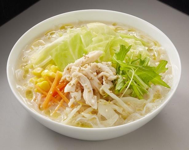 【写真を見る】Vege白湯を使ったファミマの人気商品「食べる豆乳スープ」(368円)がリニューアル!