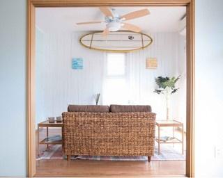 ハワイのリゾートホテルのような部屋にアレンジ ※サーフボードを除く
