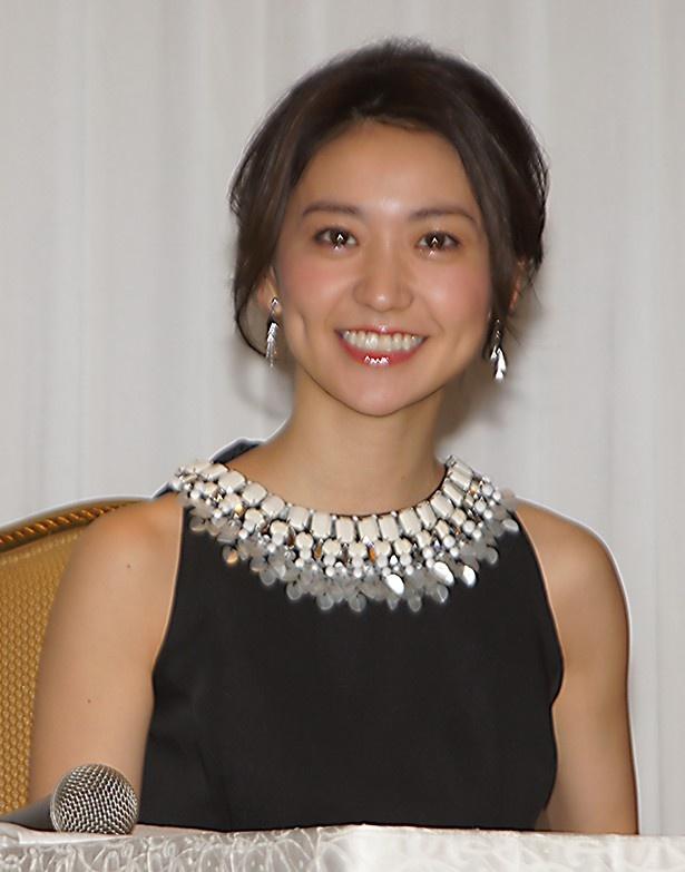 「鈴木おさむ劇場『美幸−アンコンディショナルラブ−』」制作発表に出席した大島優子