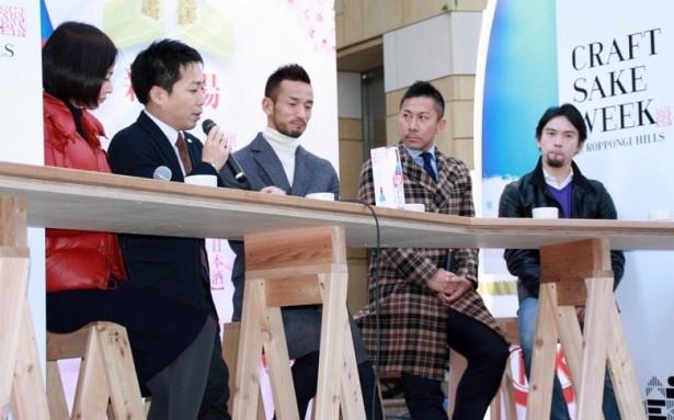 「キットカット 日本酒」の魅力を語る中田英寿