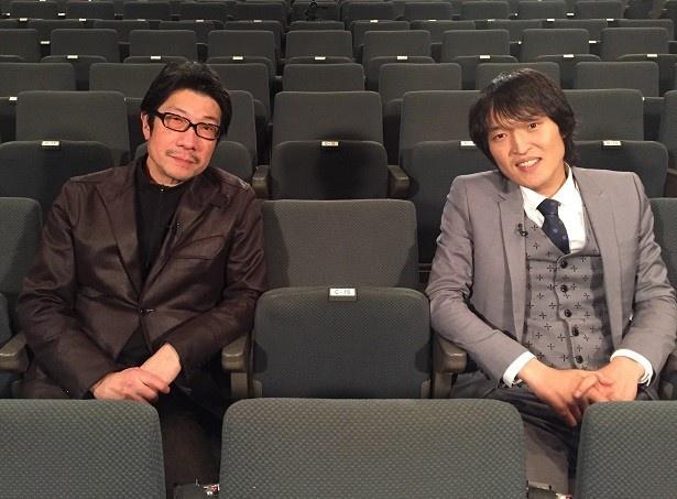 2月20日(土)の「SWITCHインタビュー 達人達」に出演する、阪本順治監督と千原ジュニア