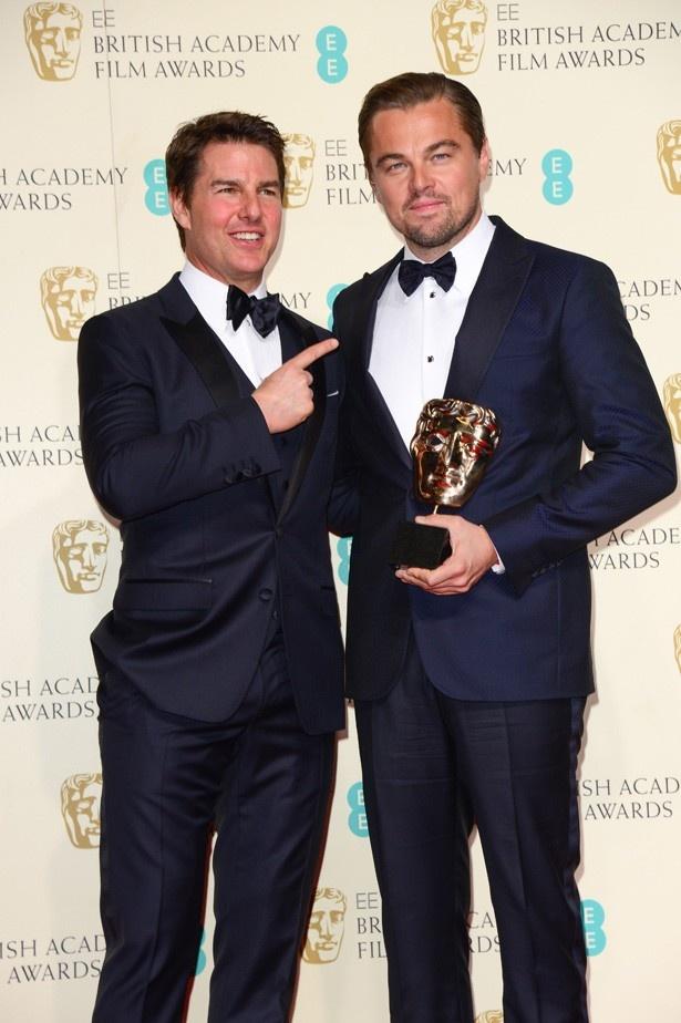 共に大スターでありながらオスカーは受賞したことがないトム・クルーズとレオ