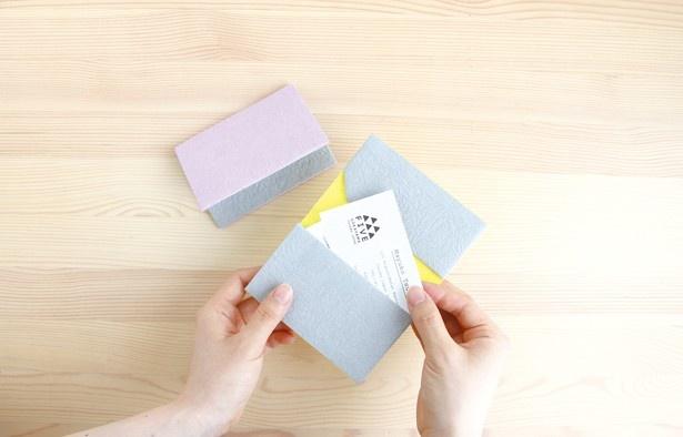 丈夫な和紙で作られたカードケース「FIVE」(1620円)