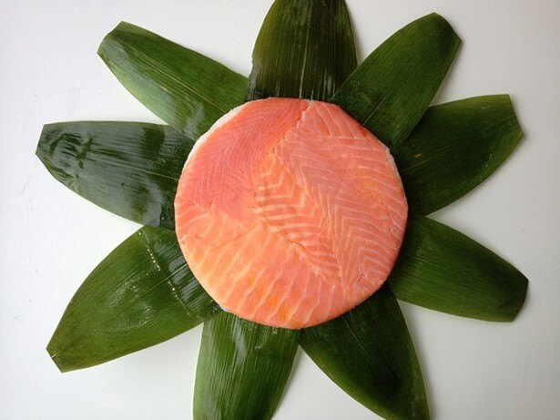 肉厚で柔らかな食感の「富山名物ます寿司」(1段、1400円)
