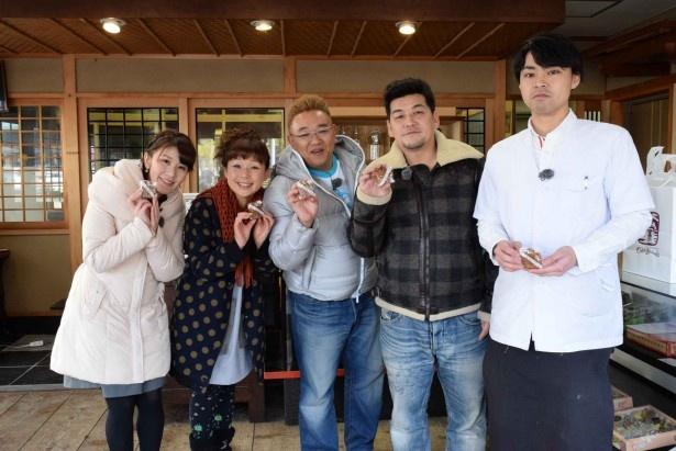 サンドウィッチマンが広島で牡蠣を味わう!