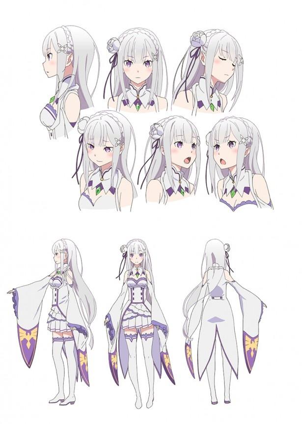 4月アニメ「Re:ゼロから始める異世界生活」メインキャラ設定画が到着!