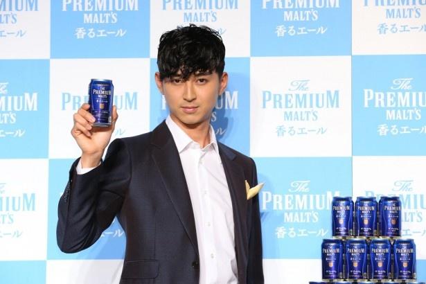「ザ・プレミアム・モルツ<香るエール>」の新発売イベントに出席した松田翔太