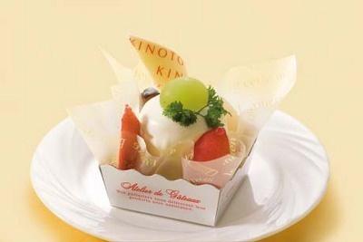 道産フルーツ5種類を使用! <きのとや>フルーツレアチーズ¥525