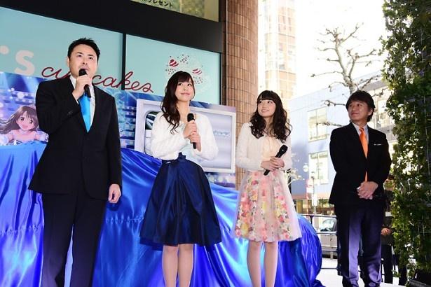 大橋彩香&福原綾香も大興奮!「アイドルマスター シンデレラガールズ」コラボカーがお披露目!!