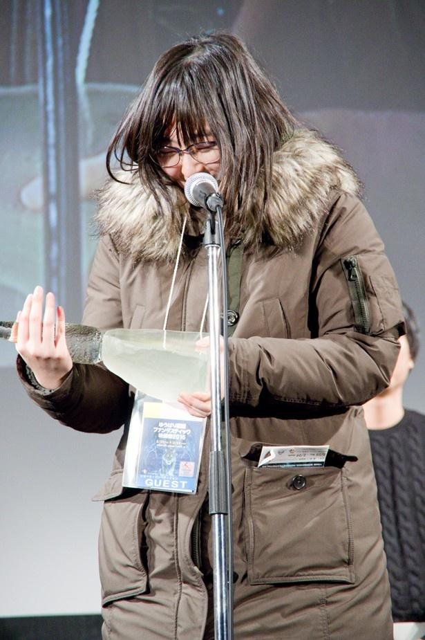 『かたすみの鱗』でショートフィルム部門のグランプリに輝いた石谷恵監督