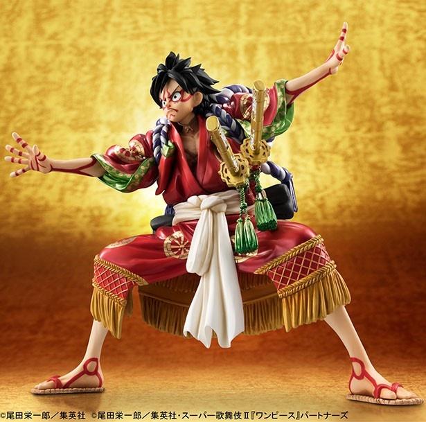 大見得を切るルフィが立体化!「ONE PIECE」×「歌舞伎」初コラボフィギュア登場