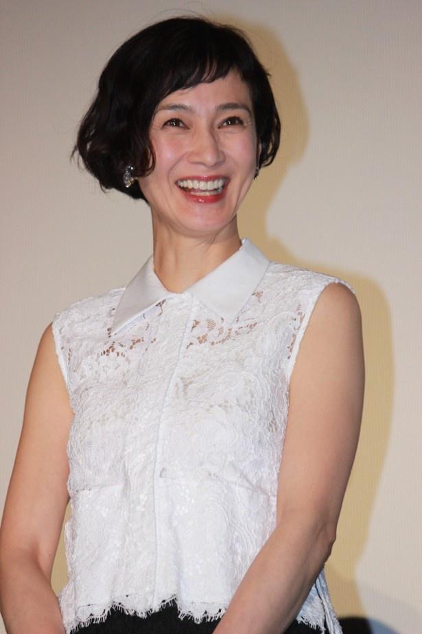 安田成美が親友は「木梨憲武」と笑顔