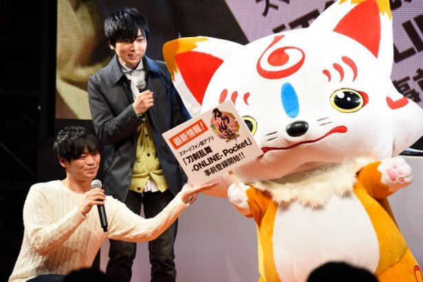 「刀剣乱舞-ONLINE- Pocket」が発表されたワンフェスステージ