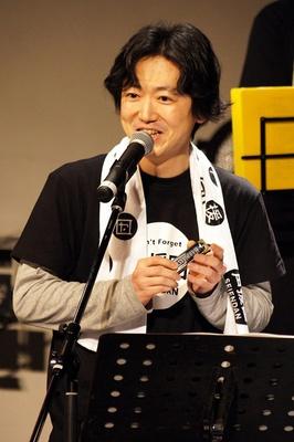 今回初参加の菅沼久義。「夏目友人帳」の北本篤史役で井上和彦とも共演している