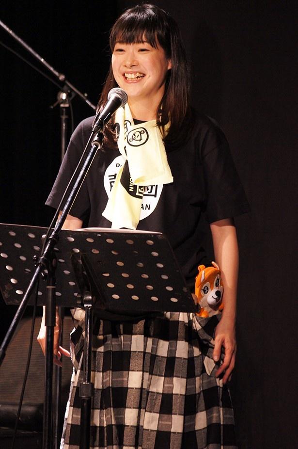 「機動戦士ガンダム 鉄血のオルフェンズ」のヒロイン、クーデリア・藍那・バーンスタイン役を務める声優、寺崎裕香。声援団への参加は今回が初
