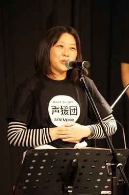今回初参加の生天目仁美。「ドキドキ!プリキュア」の相田マナ(キュアハート)や「俺の妹がこんなに可愛いわけがない」の沙織・バジーナ役が有名