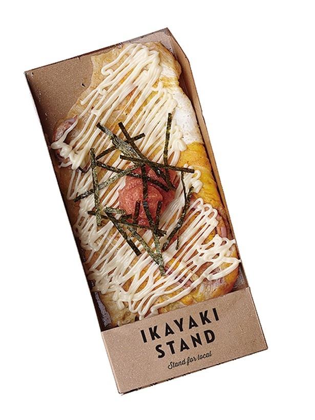「IKAYAKI STAND」(イオンモール神戸北)特製の鉄板で焼き上げたアツアツのイカ焼きを味わえる