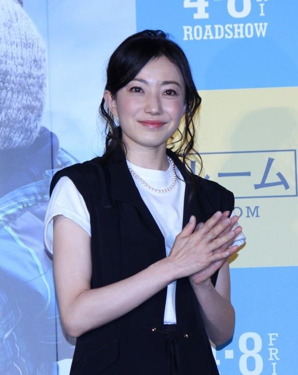 2015年8月に第1子出産を発表して以来、初となる公の場にゲストとして登場した菅野美穂