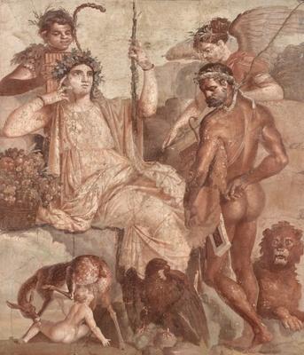 【写真を見る】ルネサンス期の天才画家ラファエッロになぞらえて賞賛された「赤ん坊のテレフォスを発見するヘラクレス」