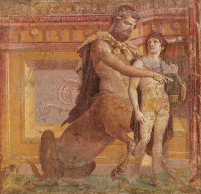 「ケイロンによるアキレウスの教育」は、思春期の若者への教育を暗示するといわれている
