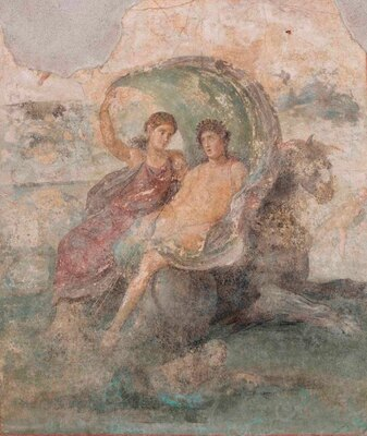 農園別荘の食堂を飾っていた「ディオニュソスとケレス」