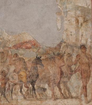 植物の生育や葡萄酒づくりを司るディオニュソスをモチーフとする一連の壁画「ディオニュソスの凱旋」