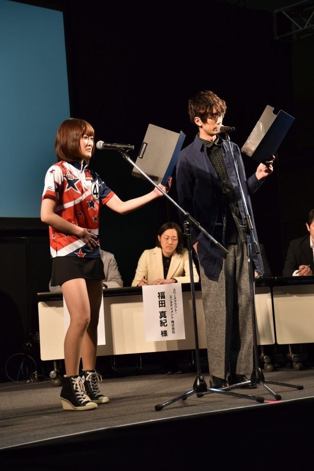 プロボウラーが声優デビューの栄冠をゲット!「声優ドリームオーディション」ステージ【AnimeJapan 2016】