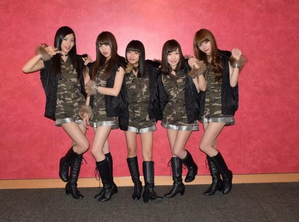 夢みるアドレセンスの小林れい、志田友美、荻野可鈴、京佳、山田朱莉(写真左から)