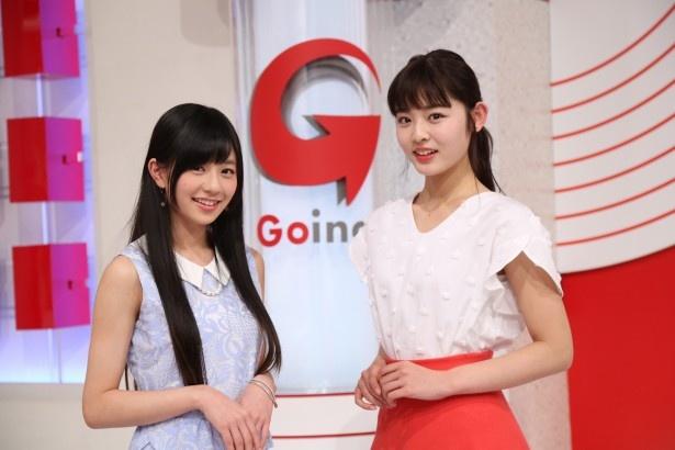 「Going! Sports&News」の新お天気キャスターに決定した、(左から)伊藤萌々香(土曜担当)、古畑星夏(日曜担当)