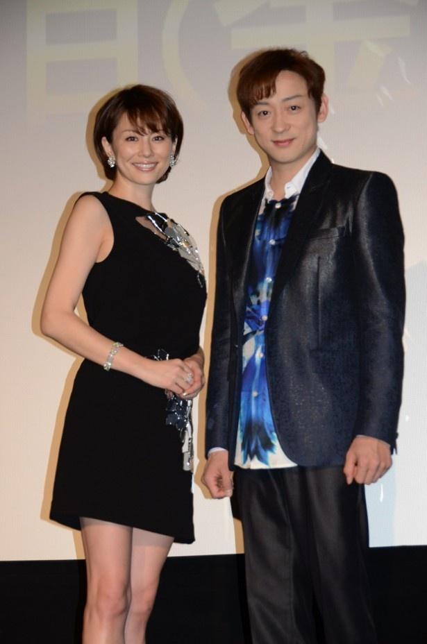 松本清張スペシャル「かげろう絵図」の試写会に出席した米倉涼子、山本耕史