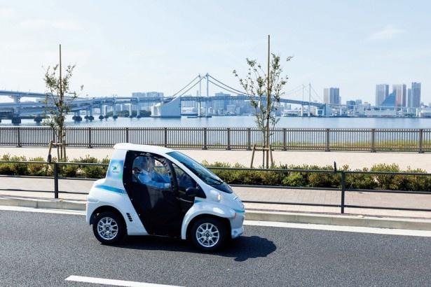 パーク24が展開する「タイムズカープラス」とトヨタの次世代交通システム「ハーモ」が融合した交通サービス「タイムズカープラスハーモ」