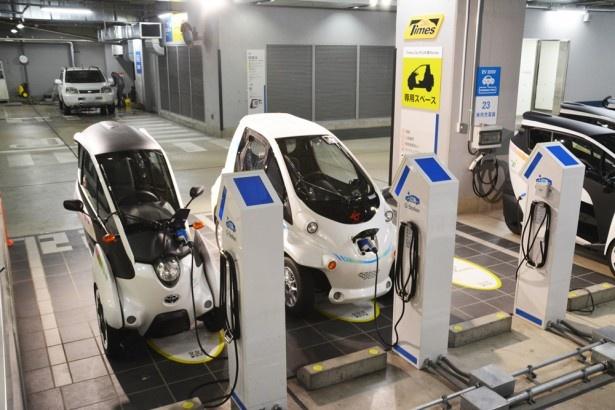 電気で走るEV自動車を活用すことで、環境にもやさしい取り組みとしている