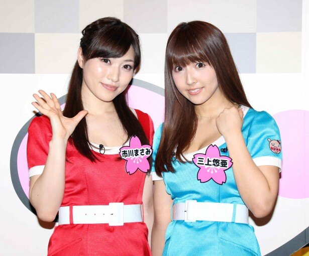 「恵比寿★マスカッツ」に新メンバーとして加入した三上悠亜と市川まさみ(写真右から)