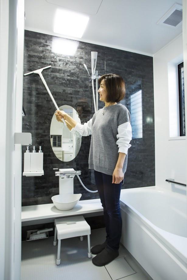 お風呂は水気をサッと取り除けば、汚れにくくなり掃除もラクに。