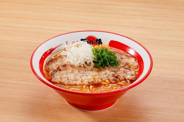「信州味噌あぶり豚ラーメン」(1080円)は、上里SA限定販売