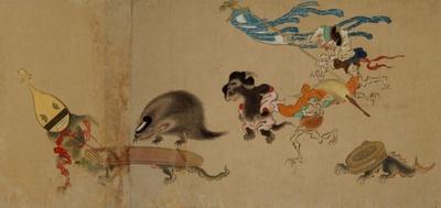 現存する最古の「百鬼夜行絵巻」として名高い中世絵巻