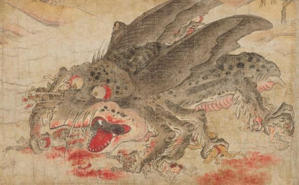 1日に3300の鬼を喰らうという異界の怪物を描いた「辟邪絵 神虫」