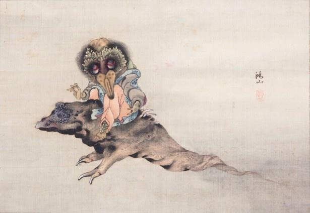 北斎の弟子・高井鴻山が描いた「妖怪図」