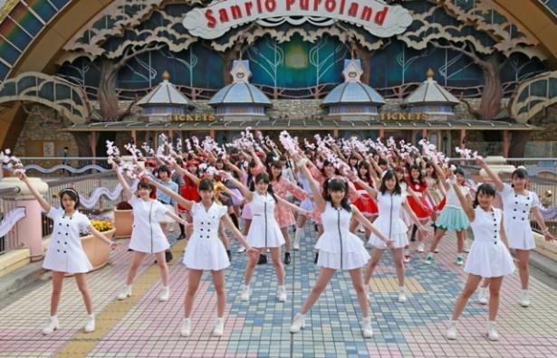 「桜前線北上プロジェクト」は、こぶしファクトリーが2ndシングル「桜ナイトフィーバー」を各地のユニドルと共に踊る企画
