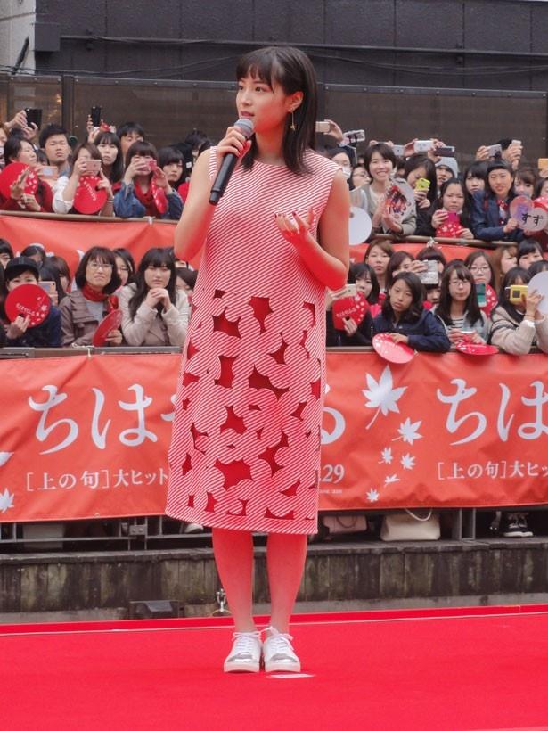 今回のイベントが大阪初イベントだった広瀬すず