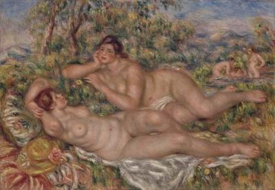 晩年のルノワールと親交のあったマティスは本作を最高傑作と称えた「浴女たち」