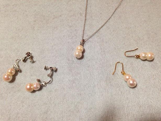 地元で採れた真珠を使ったアクセサリー作り体験