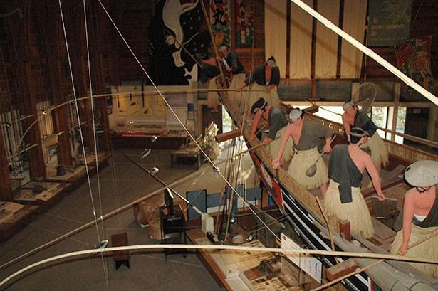 海の博物館には迫力のある模型がたくさんある