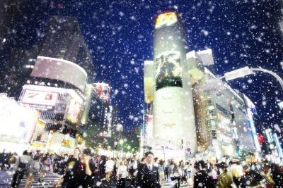 雪景色にしちゃったり…(渋谷の街を雪景色に変える方法)