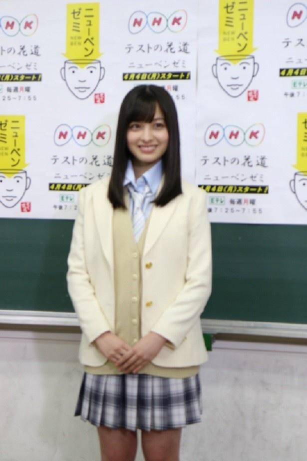 4月4日(月)スタートの「テストの花道 ニューベンゼミ」にレギュラー出演する橋本環奈